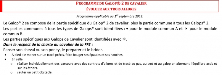 Galop 2 galop equitation cheval Galops Galop 2 equitationfrance.fr