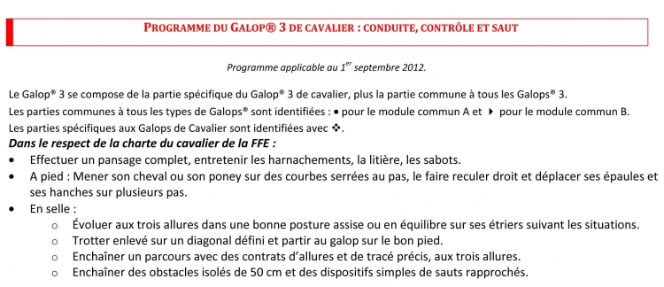 Galop 3 galop equitation cheval Galops Galop 3 equitationfrance.fr